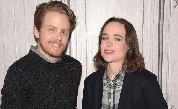 Ian Daniel and Ellen Page at AOL Studios on March 9 in New York City.