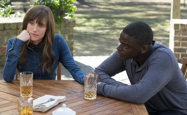 Allison Williams and Daniel Kaluuya in Get Out.
