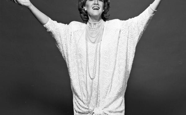"""Soprano Marni Nixon, shown above in June 1988, was dubbed """"The Ghostess with the Mostest"""" in Time magazine. """"Bad rhyme, but that sort of stuck,"""" she said."""