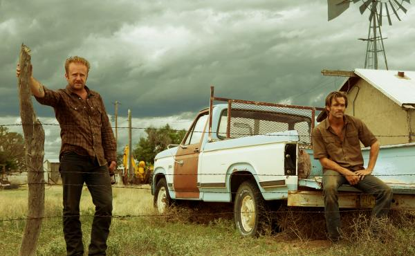 Ben Foster and Chris Pine in Hell or High Water.