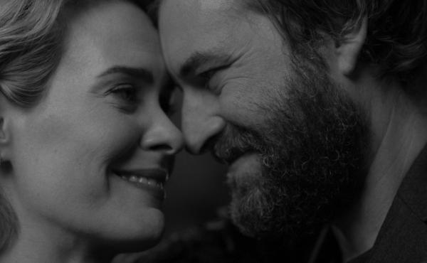 Sarah Paulson and Mark Duplass in Blue Jay, a film written by Duplass and directed by Alex Lehrmann.