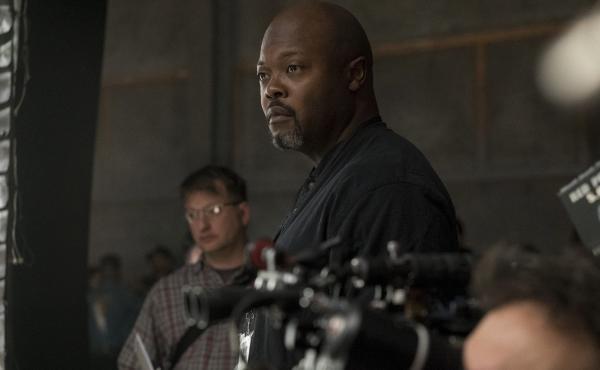 Showrunner Cheo Coker on the set of Marvel's hotly anticipated new series Luke Cage.