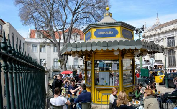Quiosque de Refresco do Largo da Sé, in Alfama, Lisbon. More than a century and a half ago, these ornate little kiosks began cropping up in the city's parks and plazas, becoming the heart of public life. But they fell into disrepair and all but disappear