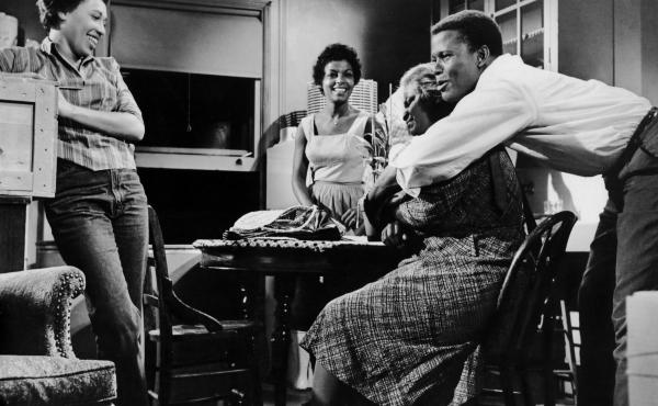 Actors Diana Sands, Ruby Dee, Claudia McNeil and Sidney Poitier appear in the 1961 film adaptation of Lorraine Hansberry's A Raisin in the Sun.