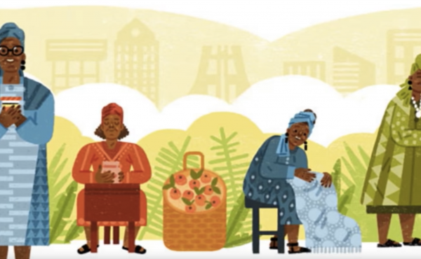 Esther Afua Ocloo, a microfinance champion and a Ghanaian entrepreneur, is the star of today's Google Doodle.