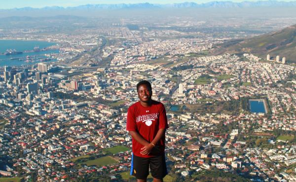"""Tatenda Yemeke spent the summer working on mental health issues in Cape Town: """"I lived with a Muslim family and they helped me learn about local culture."""""""