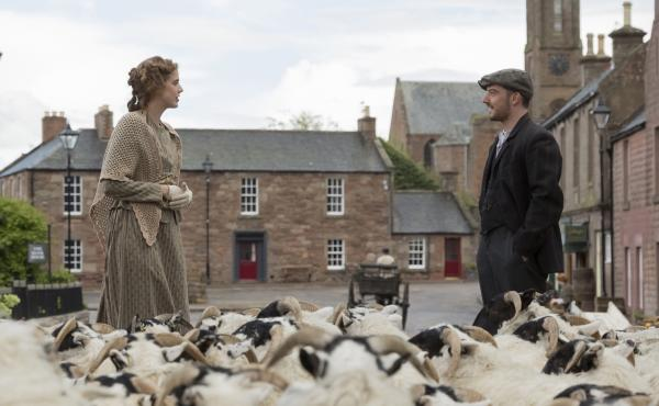 Sunset Song, Terence Davies latest film, tells the story of Chris Guthrie (Agyness Deyn), a young Scottish woman who gives up her dream to help run the family farm. Along the way, she falls in love with a young farmer named Ewan (Kevin Guthrie).