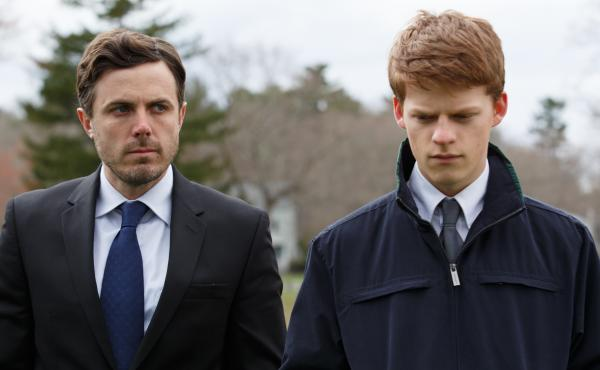 Casey Affleck and Lucas Hedges in the drama Manchester by the Sea, written and directed by Kenneth Lonergan.