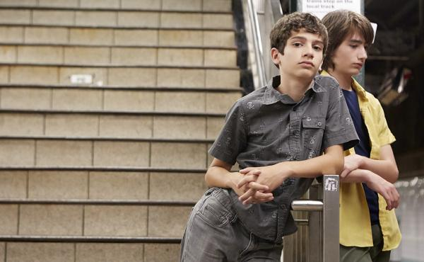 Tony (Michael Barbieri) and Jake (Theo Taplitz) in Little Men.