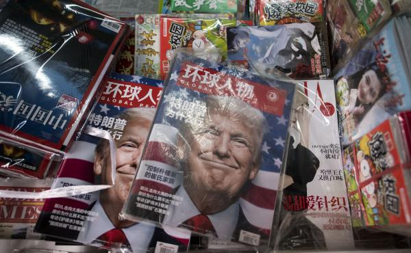 Copies of local Chinese magazines at a news stand in Shanghai on Nov. 14, almost a week after Donald Trump was elected president.