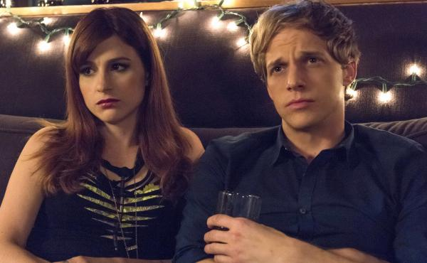 Gretchen (Aya Cash) is a self-centered music publicist who falls in love with Jimmy (Chris Geere) in the FXX series You're the Worst.