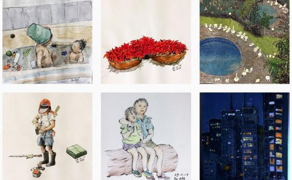 More than 100,000 Instagram users now follow Chanjae Lee's account, where he posts drawings for his grandchildren.