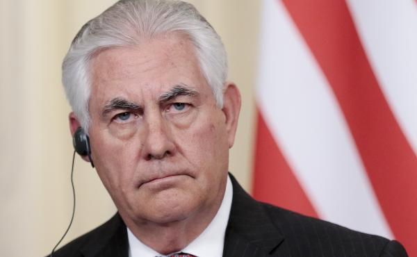 U.S. Secretary of State Rex Tillerson, pictured in Moscow last week, says Iran has been abiding by a 2015 nuclear agreement. But he told Congress in a letter that the Trump administration was reviewing the lifting of U.S. sanctions against Iran to determi