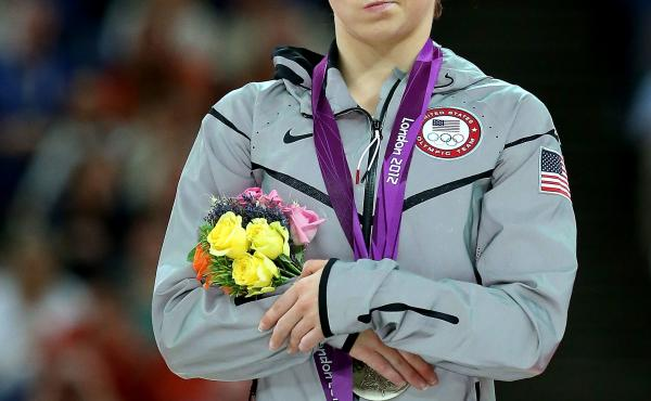 McKayla Maroney, unimpressed — possibly with the state of broadcast coverage of women's gymnastics.