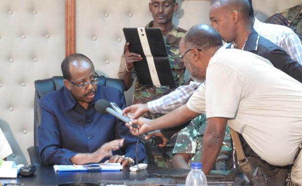 Mohamud Saleh, shown here during a recent interview, built his reputation by greatly reducing crime in a lawless part of northeastern Kenya in the 1990s. After an absence of more than a decade, he's returned to battle terrorism, and argues that the same t