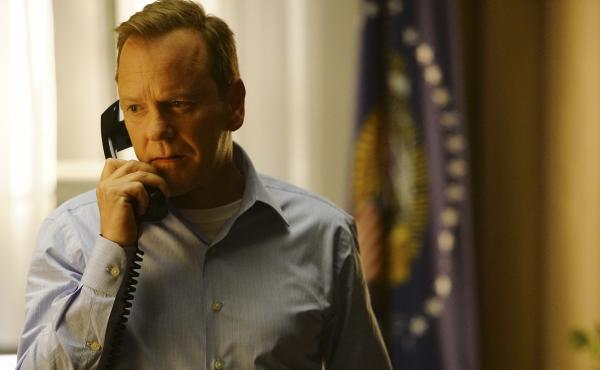 Kiefer Sutherland stars as Tom Kirkman, a lower-level Cabinet member who suddenly becomes president of the United States, in the ABC series Designated Survivor, which premieres Wednesday at 10 p.m. ET.