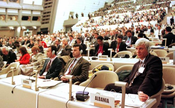 Delegates from about 170 countries gathered in Kyoto in December 1997 during the United Nations Framework Convention on Climate Change. This year in Paris, the stakes are even higher, negotiators say.
