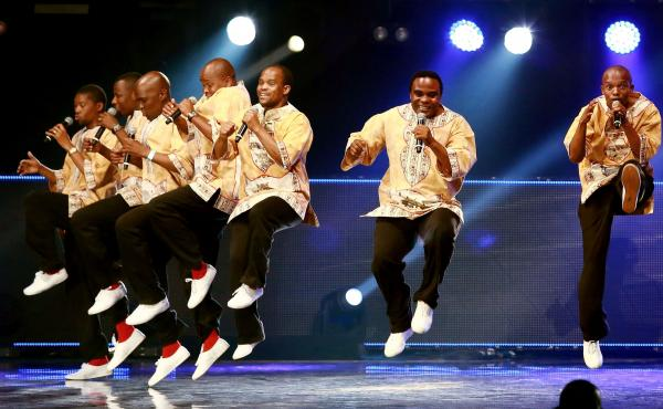 Ladysmith Black Mambazo perform during the 2014 MTV Africa Awards in Durban. Now they've teamed up with a Malian superstar for a song urging South Africans to end attacks on immigrants.
