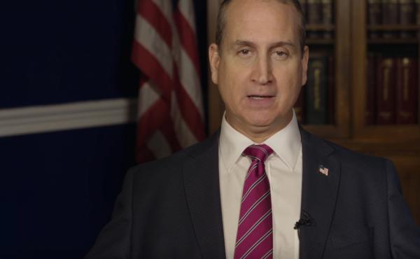 A screenshot of Florida Congressman Mario Diaz-Balart Spanish-language response to the State of the Union address, which has a different message on immigration than the one in South Carolina Gov. Nikki Haley's response speech.