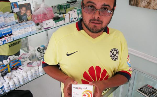 Luis Alberto de la Rosa says he sells lots of misoprostol, a drug used in abortions and in ulcer treatment, to women from Texas who come to his Miramar Pharmacy in Nuevo Progreso, Mexico.