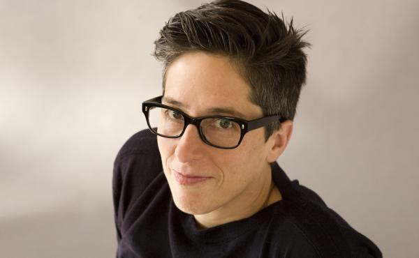 Alison Bechdel is the author of the long-running syndicated comic strip Dykes to Watch Out For.