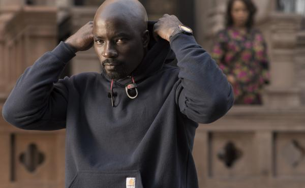 """It's a difficult subject,"" says Luke Cage actor Mike Colter, ""but I felt like what we're doing with the show is saying there can be some heroes in hoodies."""