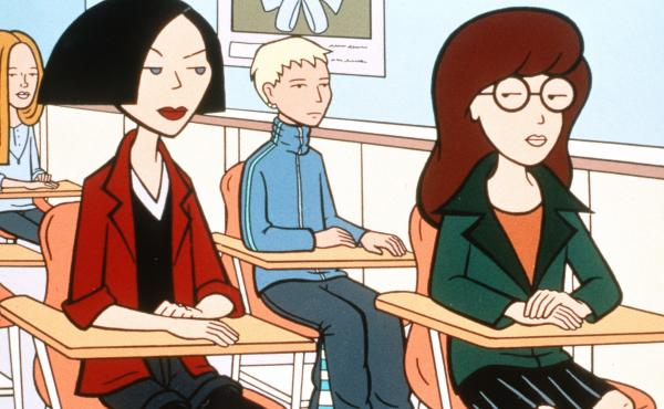 Jane Lane and Daria Morgendorffer from the MTV series Daria.