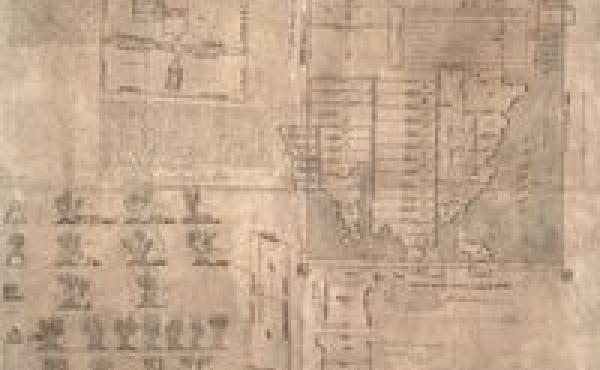 This Aztec map was drawn in 1539 and shows the estate of Oztoticpac, in Texcoco.