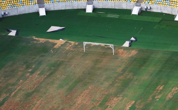 Maracanã Stadium's turf is dry, worn and filled with ruts and holes. Those soccer clubs that call the stadium home plan to meet and discuss how to bring Maracanã up to game-worthy shape. The question is, who will pay for the repairs?