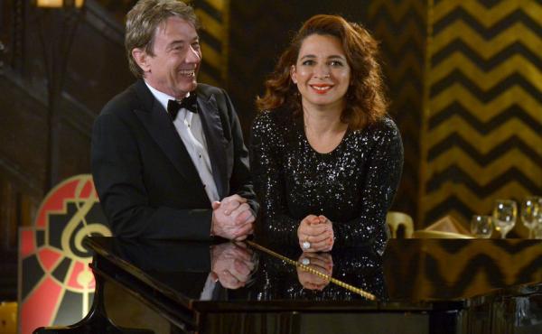 Martin Short and Maya Rudolph kicked off their variety show Maya & Marty on Tuesday night.
