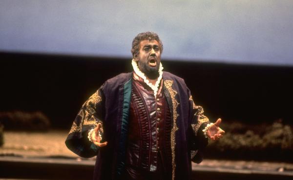 Tenor Placido Domingo performs the title role in a 1994 performance of Verdi's Otello at the Metropolitan Opera in New York.