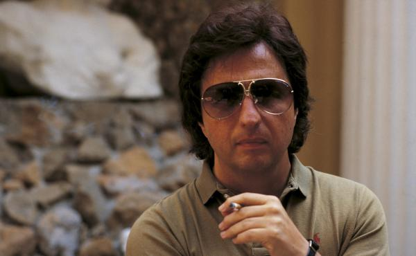 The director Michael Cimino in Italy during the '70s.