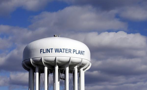 The Flint Water Plant water tower in Flint, Mich. The state has paid more than $40 million in credits for the unsafe water in an effort to ease the burden for residents.