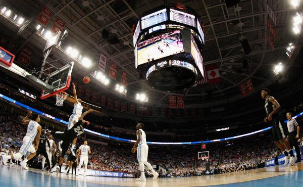"""The second round of the 2016 NCAA men's basketball tournament at PNC Arena in Raleigh, N.C. The NCAA pulled championship events from the state this year because of the controversial """"bathroom bill""""; the sporting events will now be returning."""