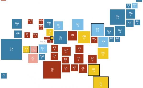 NPR 2016 electoral battleground map
