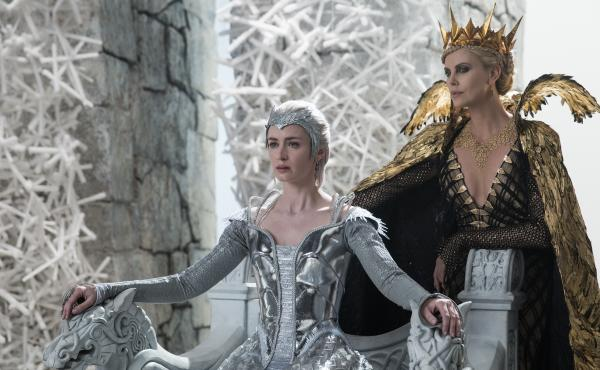 Queen Freya (Emily Blunt) and Queen Ravenna (Charlize Theron) in the story that came before Snow White: The Huntsman: Winter's War.