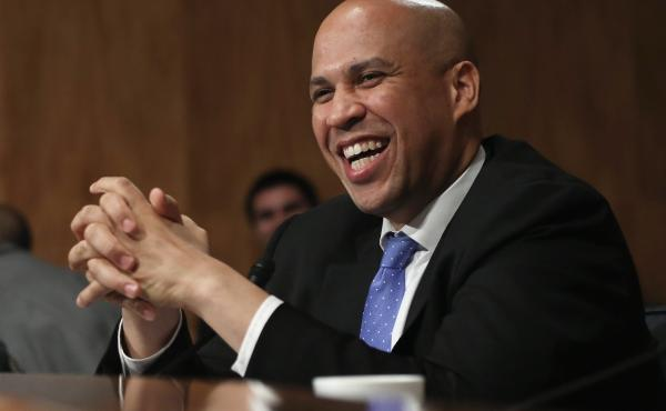 New Jersey Democratic Sen. Cory Booker speaks during a Nov. 6, 2013, hearing on Capitol Hill.
