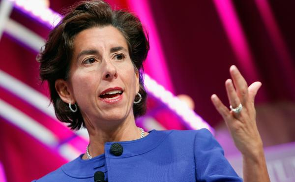 Rhode Island Gov. Gina Raimondo speaks during Fortune's Most Powerful Women Summit in Washington, D.C., on October 13, 2015.