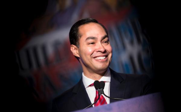 Secretary of Housing and Urban Development Julian Castro addresses the North American Building Trades Union National Legislative Conference on April 19, 2016 in Washington, D.C.