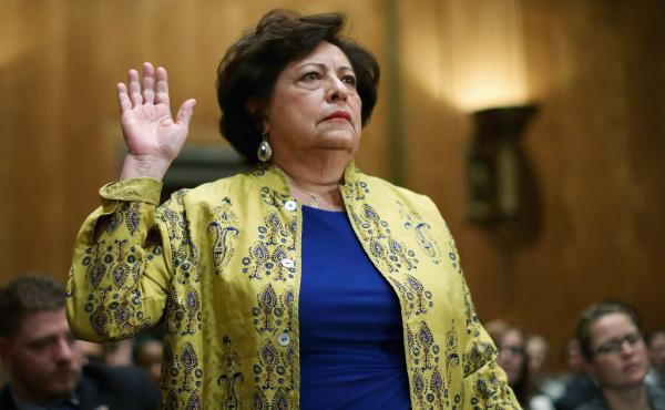 Katherine Archuleta announced Friday that she is stepping down as the director of the Office of Personnel Management, following a breach of databases that hold federal workers' personal information.