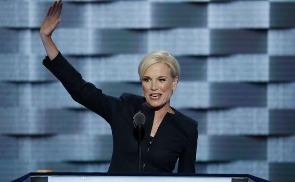 Planned Parenthood's president, Cecile Richards, addresses the Democratic National Convention in July. Republicans in Congress have repeatedly threatened to cut off federal funding for Planned Parenthood because the family planning group performs abortion