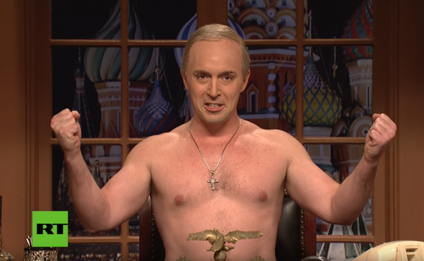 Beck Bennett played Russia's Vladimir Putin in a sketch that kicked off Saturday's episode.