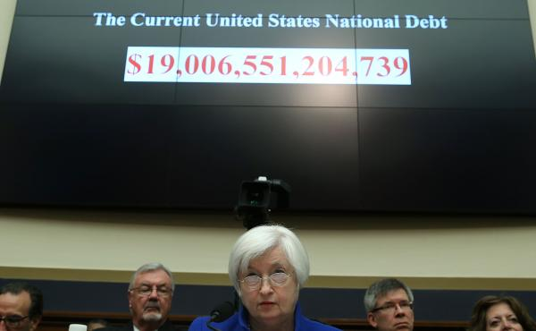 Federal Reserve Board Chair Janet Yellen listens to questions during a House Financial Services Committee hearing on Capitol Hill on Wednesday. Delivering the Federal Reserve's semiannual Monetary Policy Report to the House Committee, Yellen aired caution