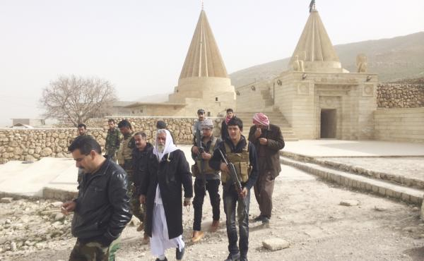 The temple of Sharfadin in Northern Iraq is 800 years old, and followers of the Yazidi religion consider it one of the most sacred sites in the world. Though ISIS tried to destroy it, a small group of Yazidi fighters kept the shrine standing.