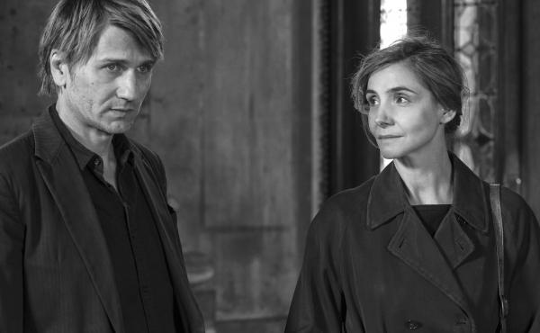 Stanislas Merhar and Clotilde Courau in a scene from In the Shadow of Women.