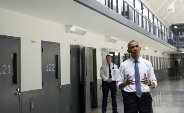 President Obama is the first sitting president to visit a federal prison.