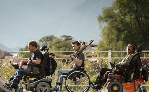 From left, Bastian Wurbs (as Titus), Joel Basman (as Valentin) and Nikki Rappl (as Lukas) star in Keep Rollin', a coming-of-age drama featured in the seventh annual Reelabilities film festival.