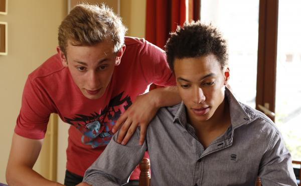 Kacey Mottet Klein (left) and Corentin Fila in Being 17, a film by André Téchiné.