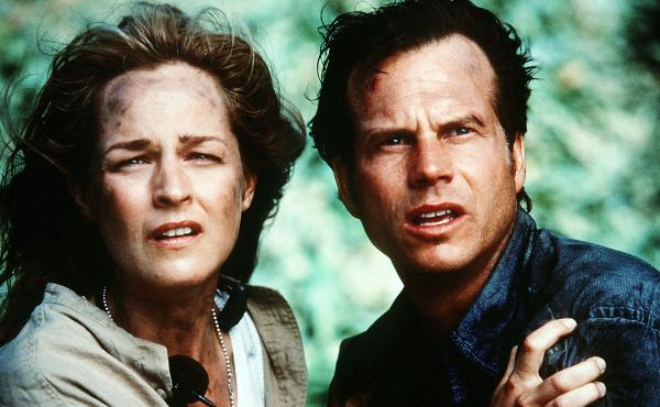 Helen Hunt and Bill Paxton star in Twister.