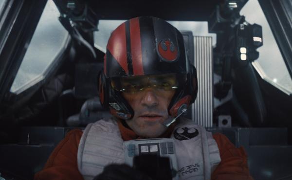Poe Dameron (Oscar Isaac) in a scene from Star Wars: The Force Awakens.